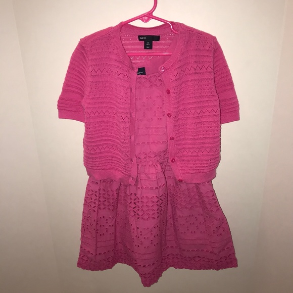 GAP Other - Pink Lace Dress with Sweater